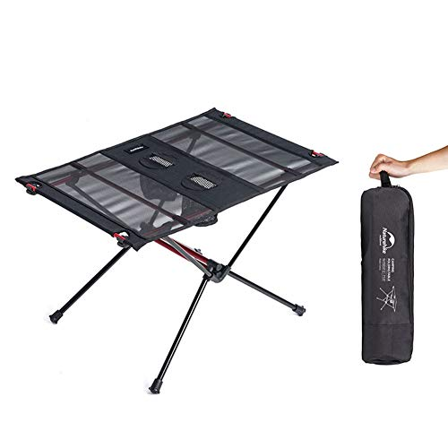 Tentock Ultraleichter Picknicktisch im Freien, Aluminiumlegierungs-kampierender Klapptisch mit 2 Flaschenhaltern für das Grill Reisen