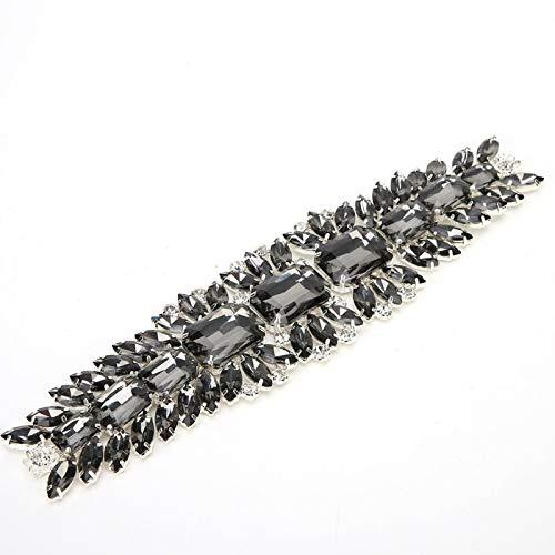 Uxsiya Cadena de diamantes de imitación transparente Cadena de diamantes Zapatos translúcidos...