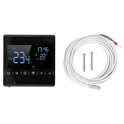Controlador de suelo radiante Termostato programable Controlador de temperatura con pantalla táctil inteligente con conexión Bluetooth WiFi
