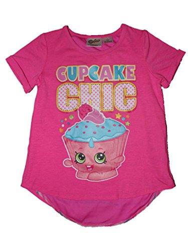 Shopkins Cupcake Chic Split Back Girls Top 4-16 (XS 4/5) Fucshia