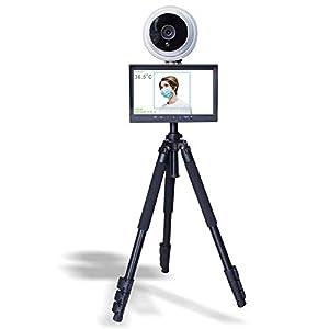 immagine di WYY Febbre Lo screening termocamera rilevazione della Temperatura con Display 10,1 Pollici, Fotocamera sensore di Temperatura Allarme Intelligente (Staffa includere)