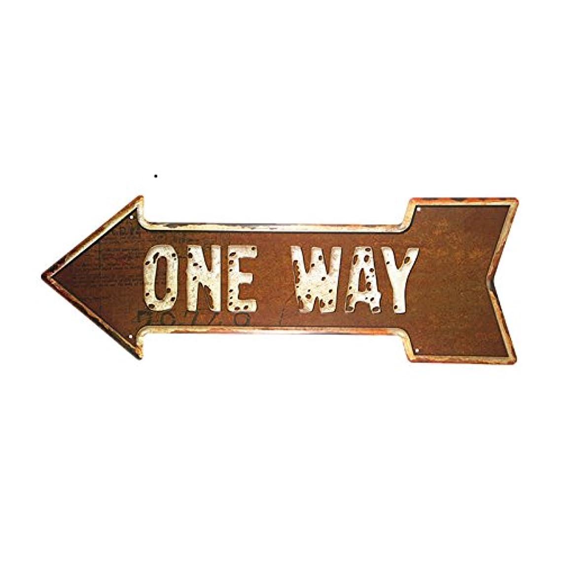 理想的には途方もないバラエティDL-one way only way Originality tool poster iron painting Arrow signpost wall hangings