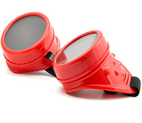 morefaz Welding Cyber Goggles Occhiali di protezione saldati Goth Cosplay, Steampunk, Antico vittoriano con borchie , con un set di lenti a protezione UV400 (TM)