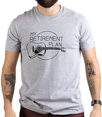 My Retirement Plan (Guitar) | Funny Music Musician Humor Men Women Joke T-Shirt-(Adult,L)
