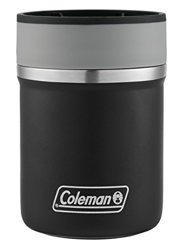 Coleman Lounger Stainless Steel Can Insulator, Black,, 10 oz