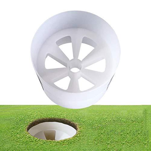 Balai Golfloch Cup, Plastik Golf-Trainning-Cup - Golf-Übungszubehör, passend für Yard Garden Backyard, weiß