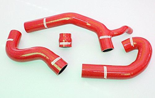 Autobahn88 Kit de tuyau Silicone radiateur liquide de refroidissement, Maquette ASHK232-RD-WC (Rouge - dont la valeur Clamp)