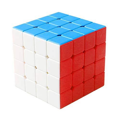 pengxiaomei Speed Cube, Smooth Magic Cube Professional Puzzle Cube Speed Cube 4x4 for Kids Adults
