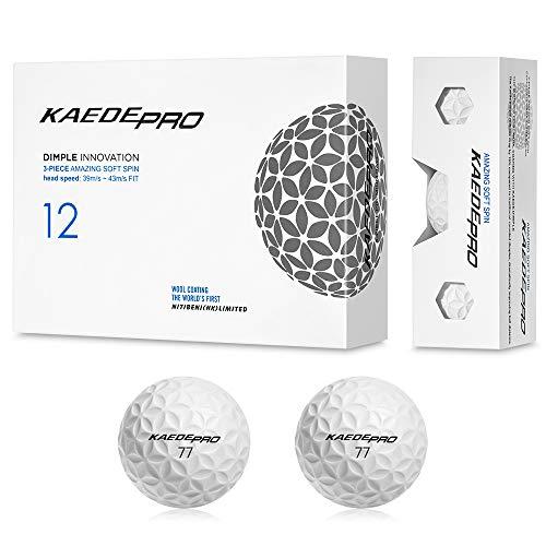 KAEDE(カエデ) ゴルフボール PRO ホワイト 1ダース(12個入り)