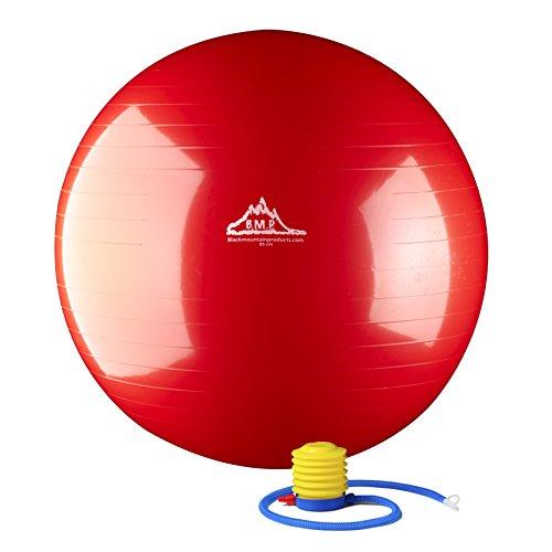 Black Mountain Professional-Grade Exercise Ball, 75cm, Red