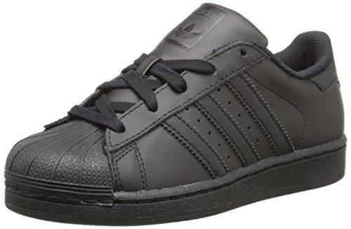adidas Originals Superstar C Basketball Shoe (Little Kid),Black/Black/Black,1 M US Little Kid