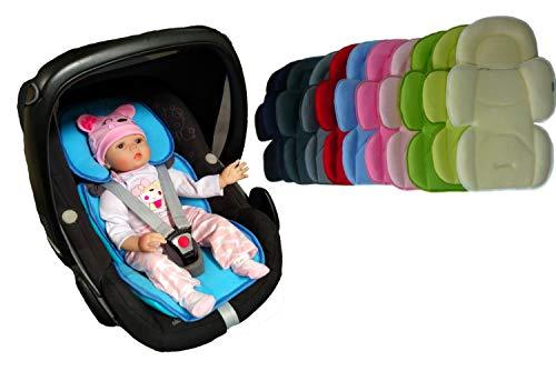 Sitzverkleinerer / NeugeborenenEinsatz SOFTY MAXI- Abnehmbares Kopfteil mit Sommer- und Winterseite ROT