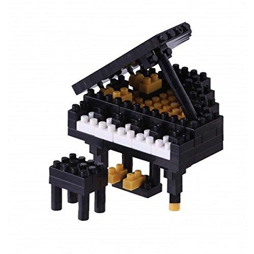 nanoblock NBC-146 - Grand Piano/Flügel, Minibaustein3D-Puzzle, Mini Collection Serie, 170 Teile, Schwierigkeitsstufe 2, mittel