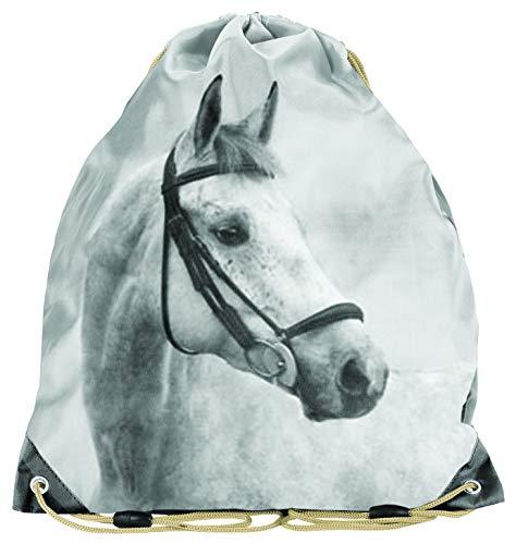 Ragusa-Trade Bolsa de deporte para aficionados a los caballos, bolsa de gimnasia, bolsa para zapatos para niños y niñas, 38 x 34 cm