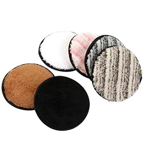 YepYes Paño de Microfibra de ratón, removedor Limpiadora Facial Cleansing Toalla Lavable Cojín para Muchachas de Las Mujeres 6Pcs