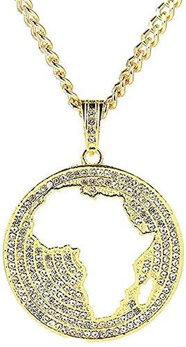 NC198 Collar Hip Hop Joyería Moda Oro Collares de Cadena Larga Mujeres Hombres Carta de declaración Águila Tarjeta de Gesto de oración Collar Colgante