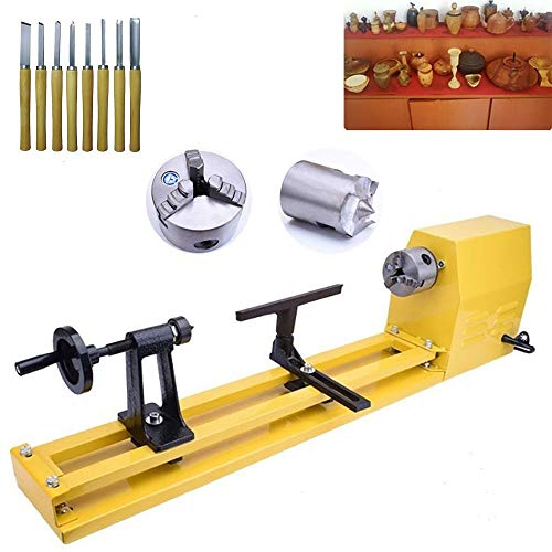 Mini Wood Lathe Benchtop 11-Inch by 22-Inch...