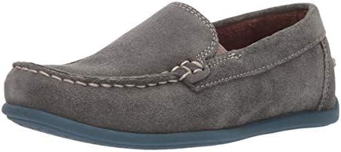 Florsheim Kids Boys Jasper Venetian Slip On Jr Driving Style Loafer Grey Suede 13 Medium Little product image