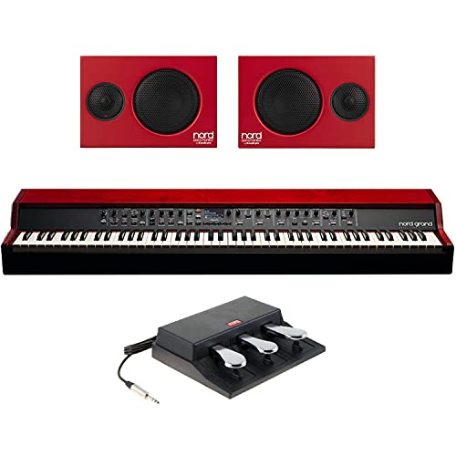Nord Grand 88-note Kawai Hammer Action Keyboard with Ivory Touch with Nord Piano Monitor V2 Active Pair of Stereo Speakers