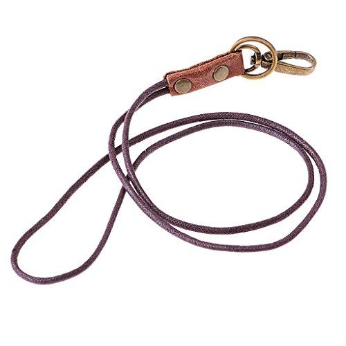 Vintage Leder Lanyard Schlüsselanhänger multifunction für ID karte, Abzeichen, schlüssel, brieftasche - 3
