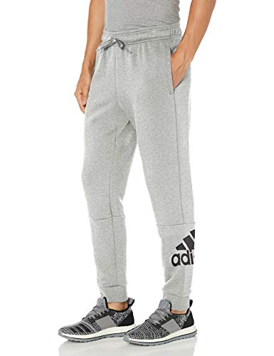 adidas mens Badge of Sport Fleece Pants Medium Grey Heather/Black X-Large