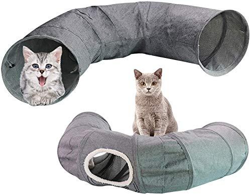 CNMYDZ Túnel De Gato Plegable, Hidea De Tubo De Mascotas De Rodillo De Tierra Resistente A Los Rasguños Portátil, para Conejos Gatitos Y Ejercicio De Perros Pequeños