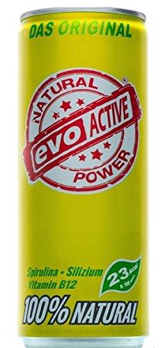 Evo Active Drink Geschmacksrichtung Ingwer-Limette Mit  Silizium, Kokoswasser  Spirulina, Evo Active Hilft Wenn Der Akku Leer Ist, Bessere Fettverbrennung, Stärkung des Immunsystems, Verlangsamung Des Alterungsprozesses Und Viele Mehr 24 Dose Inhalt Je Dose 250 ML