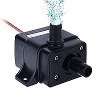 Bomba sumergible Mini Bombas de agua sin escobillas eléctricas, IP68 a prueba de agua, DC12V 3.6W Impermeable sumergible acuario de la fuente que circula 280L / H Lift 300cm