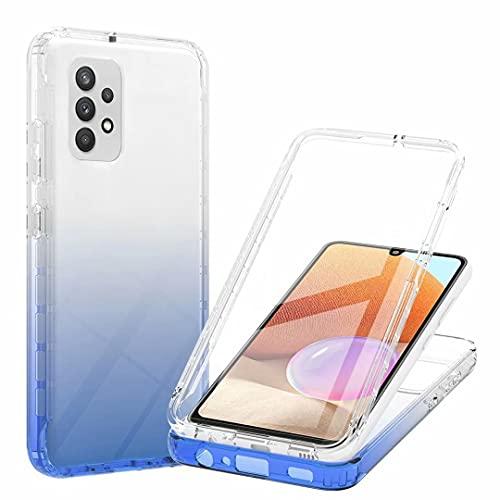 Ttimao Hoesje voor Samsung Galaxy A32 4G Ingebouwd Scherm Beschermer Verloop Transparant 3 in 1 Telefoonhoes Zachte TPU…