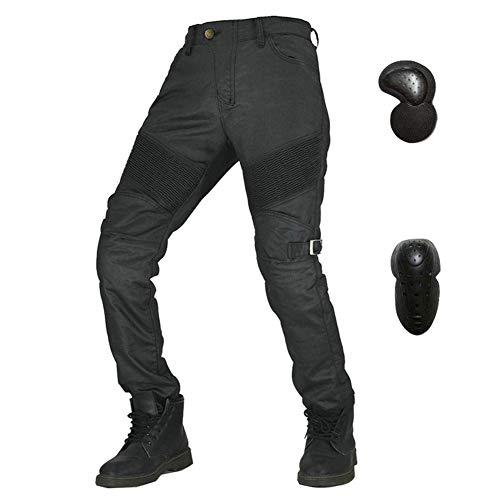 Pantalones De Ciclismo Elásticos Protectores Para Motocicletas, Pantalones De Moto Jeans A Prueba De Viento, Pantalones De Montar Retro Para, Pantalones Anticaídas Otoño E Invierno (S)