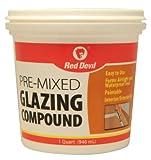 Red Devil 0664 Glazing Compound, 1 Quart, White