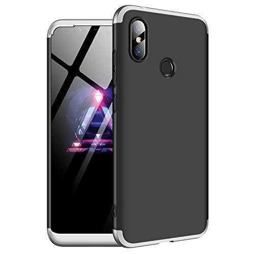 TXLING Funda Samsung Galaxy A8 2018 + Bumper 3 en 1 Estructura 360 Grados Case Ultra-Delgado Anti-rasguños Carcasa para Samsung Galaxy A8 2018 + Negro + Cristal Templado