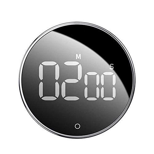 DIEFMJ Temporizadores de Reloj Despertador Reloj Despertador Temporizador de Cocina mecánico Reloj de Contador de Alarma para el Dormitorio Oficina Junto a la Cama (Color: Negro, Tamaño: Talla única)