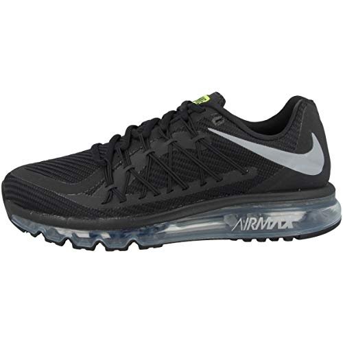 Nike Men's Air Max 2015 Running Shoes (13, Black/Volt/Wolf Grey)