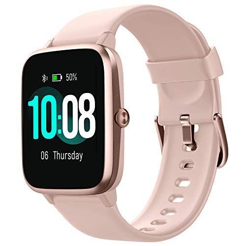 GRDE Smartwatch, Reloj Inteligente Impermeable IP68 con Monitor de Sueño Pulsómetro Podómetro Caloría GPS para Deporte, Smartwatch Reloj Inteligente Mujer Niños Despertador para Android iPhon