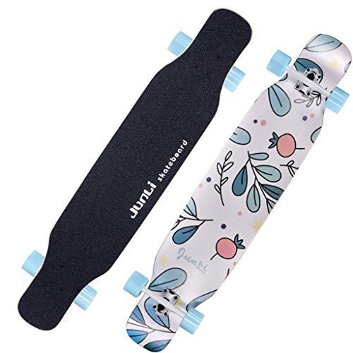 Ultrasport Longboard, Trucos Skateboard MAX Load 200kg, Rodamientos ABEC-7 Incluye Rodamientos ABEC de Alta Velocidad T-Tool para niños y Adultos