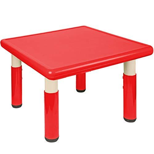 alles-meine.de GmbH Kindertisch / Tisch - höhenverstellbar - Größen & Farbwahl - 1 bis 8 Jahre - rot - Plastik - für INNEN & AUßEN - Kindermöbel - für Kinder - Mädchen & Jungen -..
