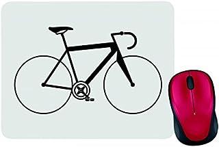 Alfombrilla para ratón con diseño de bicicleta, bicicleta, bicicleta, bicicleta, deportes y deportes en negro, blanco, azu...