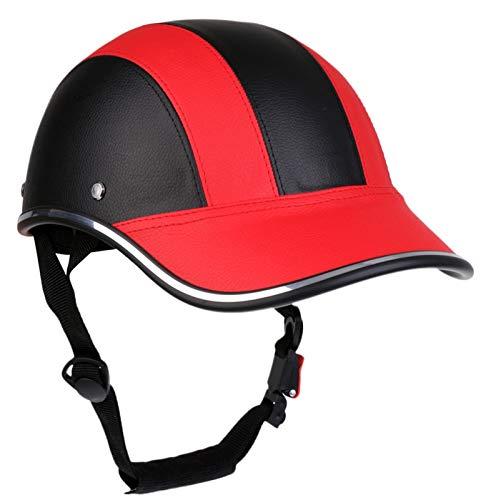 Bike Half Open Face Casco Gorra De Béisbol Sombrero Duro Safety Protect Helmet ECE Aprobado C,54-62cm