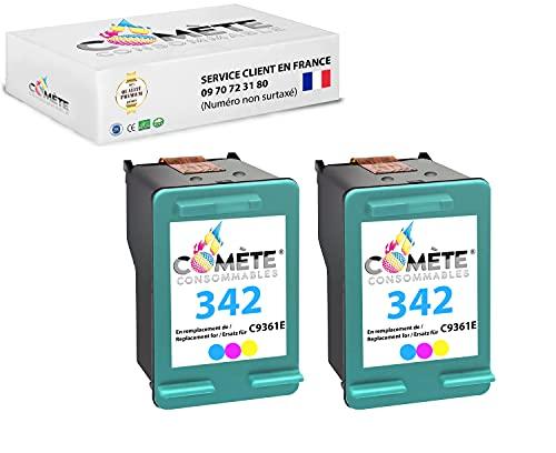 2 cartuchos de tinta Premium compatibles 342 para impresoras DESKJET 5400 Series 5440 5440 Series Officejet 6310 Photosmart 2570 2575 7850 C3100 C3100 Series C3170