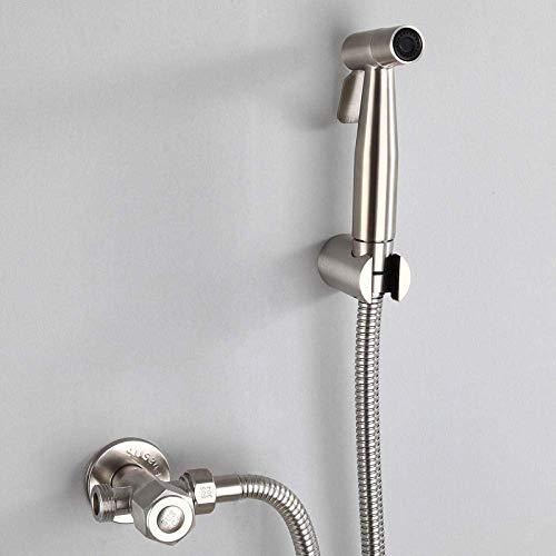 JKCKHA Mascota del baño, Lavado de Coches, Flor de Agua, la higiene Personal - 304 Acero Inoxidable Bidé Pistola de pulverización Conjunto de Ducha Adecuado para baño.