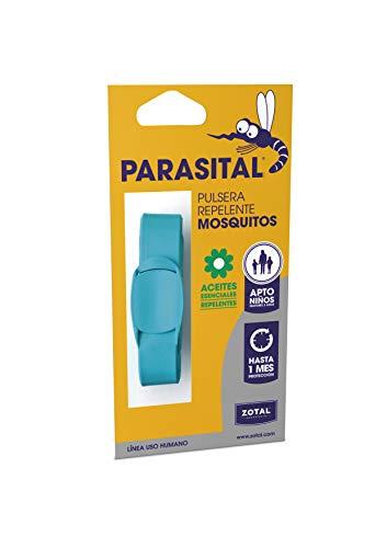 Parasital Pulsera Repelente de Mosquitos, Azul Turquesa - 1 Unidad