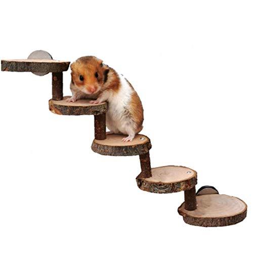 hong Wu Hamster Escala De Madera Guinea Pig Rampa Paso Natural Pet Chinchilla Rampa Escalera Pequeños Juguetes para Mascotas En Roedores