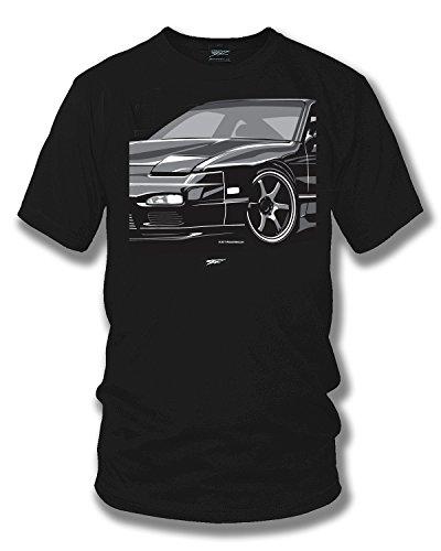 Wicked Metal 240sx, Nissan 240 t-Shirt, Street Racing, Tuner car, Muscle car Shirt Black