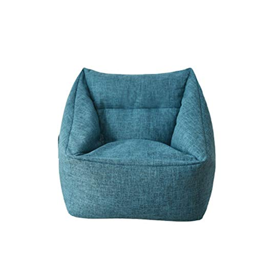 Withou Bean Bag Chair Including Stuffing, Bedroom Furniture Bean Bag, Adult Sofa, Lazy Sofa Recliner, Tatami Hotel, thick, soft and non-slip (Color : Blue sofa filled EPS)
