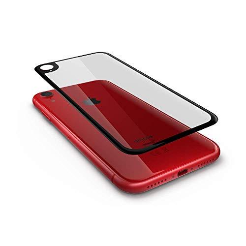 GLAZ Hybrid geeignet für iPhone XR Rückseite Panzerglas durchsichtig, Rückseite Folie, Full Cover, Mit Applikator, Staubfrei, Blasenfrei, Premium Rückseiten Glas, Rückseitenschutz, 100% Passgenau
