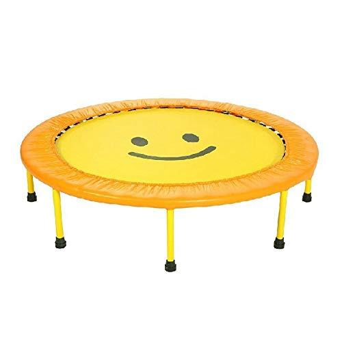 Opvouwbare trampoline voor fitness, entertainment voor kinderen, trampoline, fitness uitrusting, 60 inch / 100 kg, geel 60inchdiameter150cm