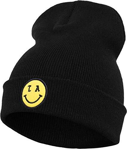 Mister Tee LA Smile Beanie Cap, Black, One Size