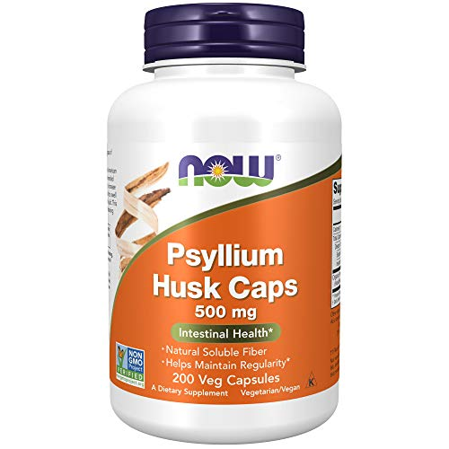 NOW Supplements, Psyllium Husk 500 mg, 200 Capsules