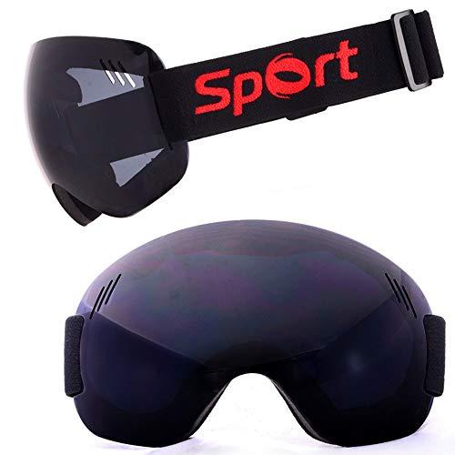 LG Schnee Schwarz Anti-Nebel-windundurchlässige Skibrille Großgelenk Brille Ultra Randlos Außenwintersport Bergsteigen Schnee Männer Geschenke for Frauen